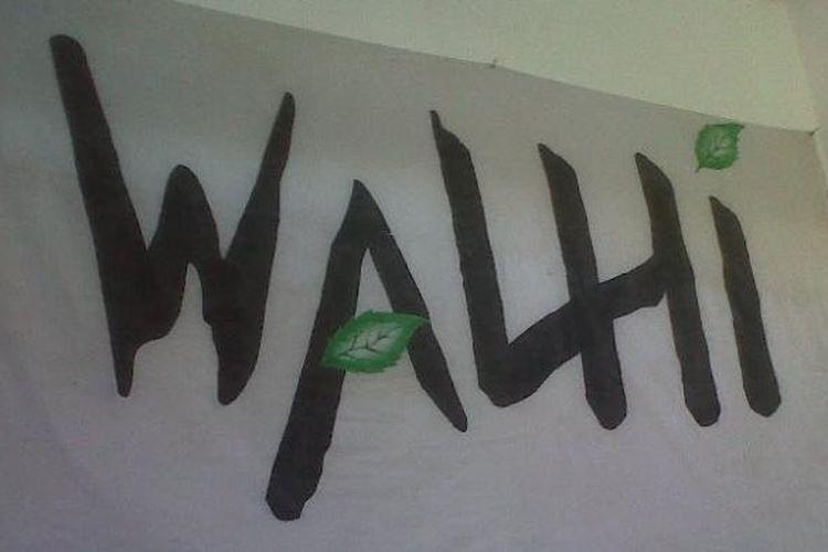 Spanduk Walhi