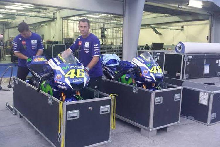 Ribetnya urusan logistik dalam MotoGP