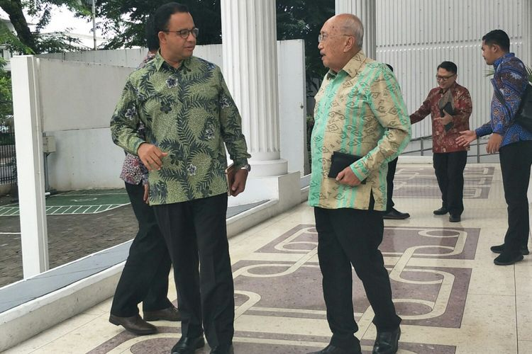 Gubernur DKI Jakarta Anies Baswedan temui Wakil Presiden Jusuf Kalla, Jumat (25/1/2019).