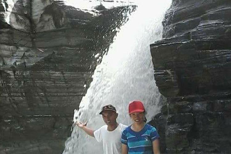 Air terjun Kolam Peka yang sering disebut Tiwu Peka di DAS Wae Impor, Lembah Ranggu, Kecamatan Kuwus, Manggarai Barat, Flores, NTT.