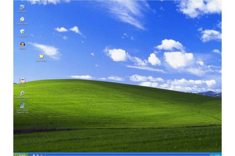 Tampilan antarmuka Windows XP.