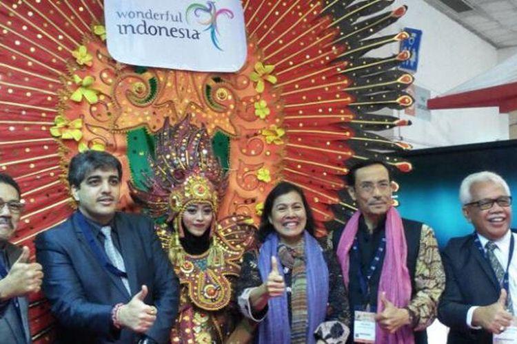 Kementerian Pariwisata RI saat mengikuti pameran di South Asia Tourism and Expo (SATTE) 2017 di New Delhi, India, 15-17 Februari.
