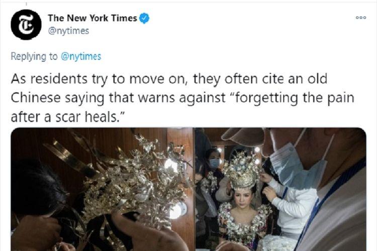 Screengrab akun resmi Twitter media The New York Times.