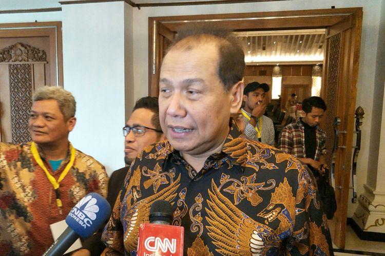 Pemilik CT Corp Chairul Tanjung di Hotel Sahid, Jakarta, Senin (14/1/2019)