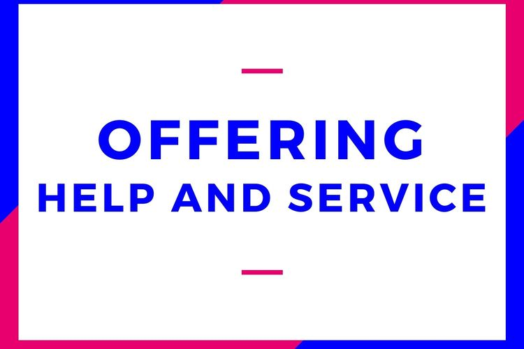 Ilustrasi offering help and service.