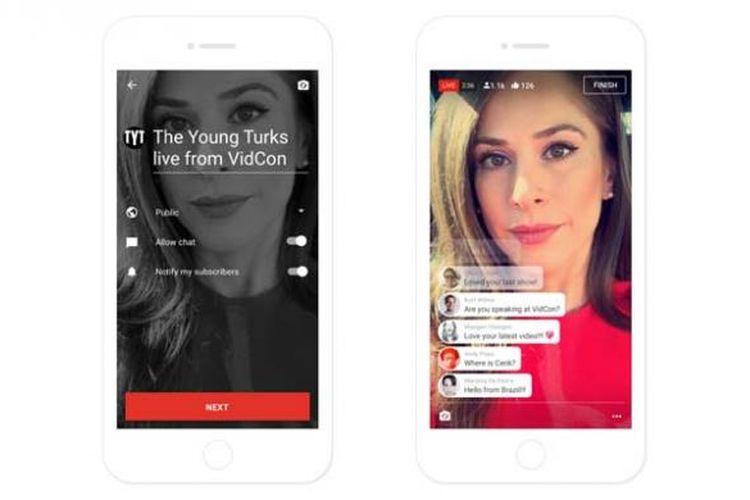 YouTube mobile bikin fitur live streaming seperti Periscope