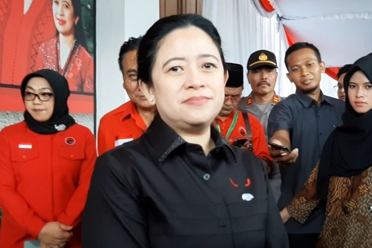 Ketua DPP PDIP Bidang Politik dan Keamanan, Puan Maharani saat ditemui awak media di Panti Marhaen Semarang,Sabtu (15/2/2020).