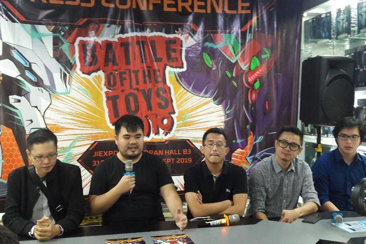 Jumpa pers Battle of The Toys 2019 di Kelapa Gading, Jakarta Utara, Senin (26/8/2019).