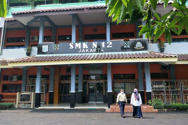 SMKN 23 Tanjung Priok Jakarta Utara tunda pembelajaran tatap muka (PTM) tahap dua, Rabu (9/6/2021).