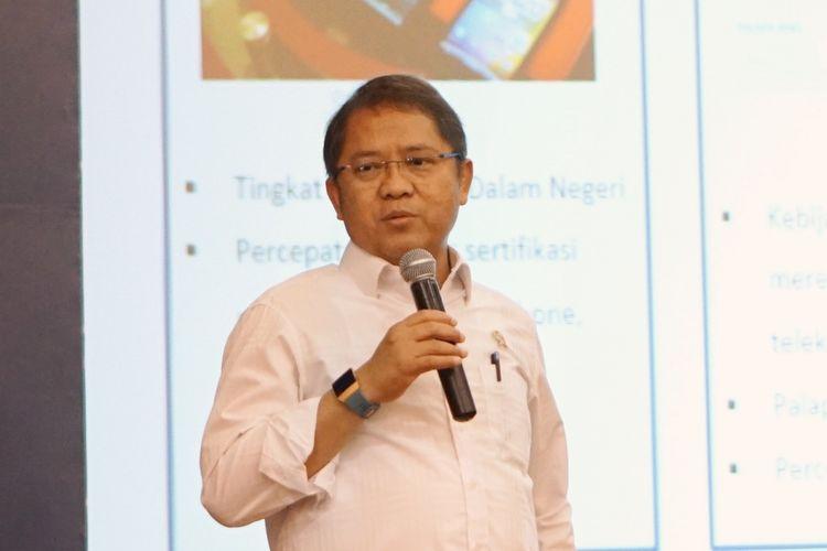 Menteri Kominfo Rudiantara saat berbicara dalam acara Indonesia LTE Conference 2018 di Jakarta, Rabu (14/3/2018).
