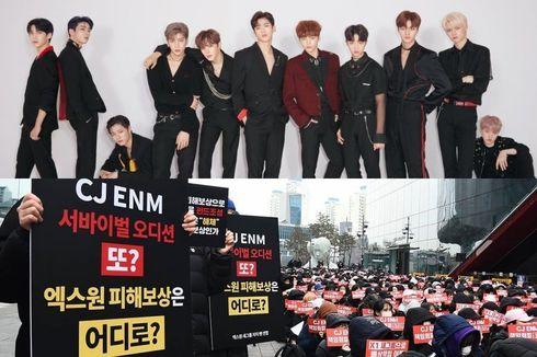 X1 Dibubarkan, 1.000 Fans Berdemo di Depan Kantor CJ ENM