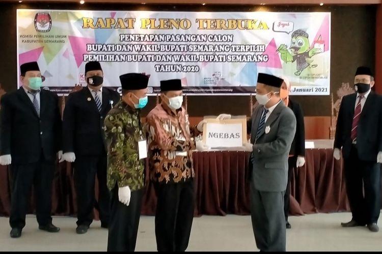 Penetapan paslon terpilih Ngesti Nugraha-Basari sebagai Bupati-Wakil Bupati Kabupaten Semarang Terpilih