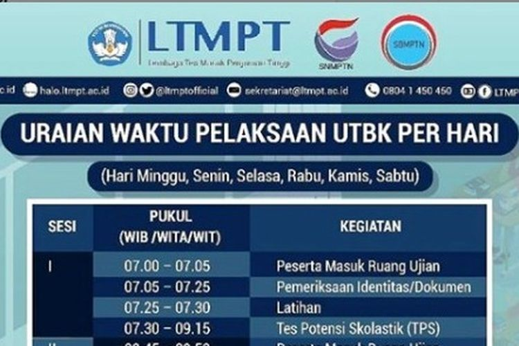 Berikut ini info waktu dan protokol pelaksanaan UTBK 2020.