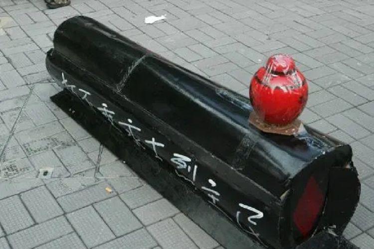 Ilustrasi peti mati China.