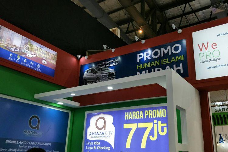Booth pameran PT Wepro Citra Sentosa di lokasi pameran IPEX 2018 Jakarta Convention Center, Senayan, Sabtu (3/1/2018).