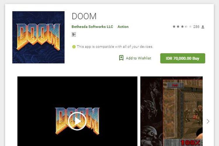 Ilustrasi game Doom di PlayStore