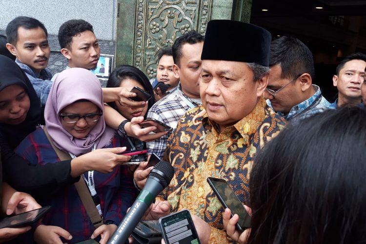 Gubernur BI, Perry Warjiyo sampaikan Seputar perkembangan inflasi, Jumat (21/6/2019)