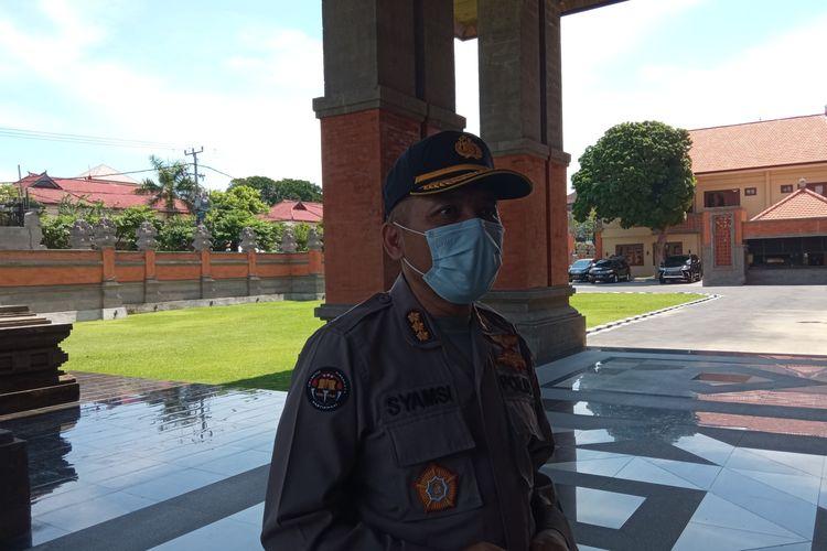 Kabid Humas Polda Bali Kombes Pol Syamsi di Mapolda Bali, Senin (19/10/2020).