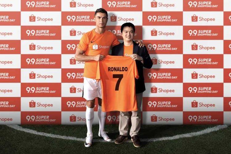 Cristiano Ronaldo menjadi brand ambassador Shopee