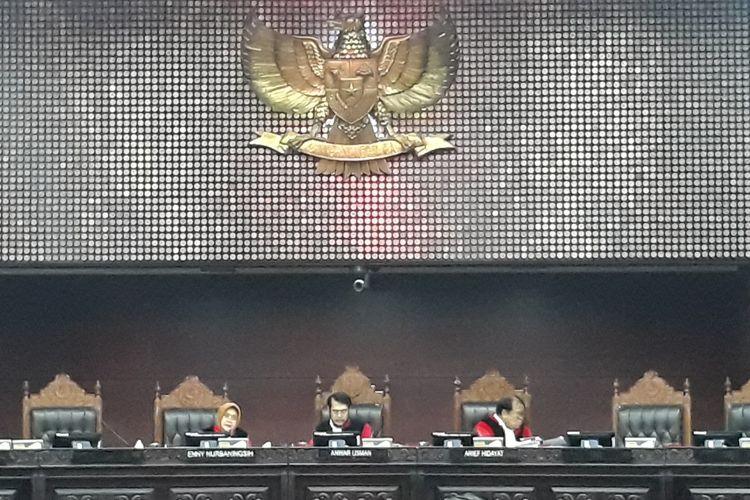 Sidang Sengketa Hasil Pileg di Mahkamah Konstitusi (MK), Jakarta Pusat, Rabu (24/7/2019).