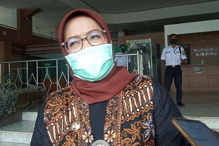 Bupati Bogor Ade Yasin saat ditemui usai rapat evaluasi di kantornya, Senin (12/10/2020).