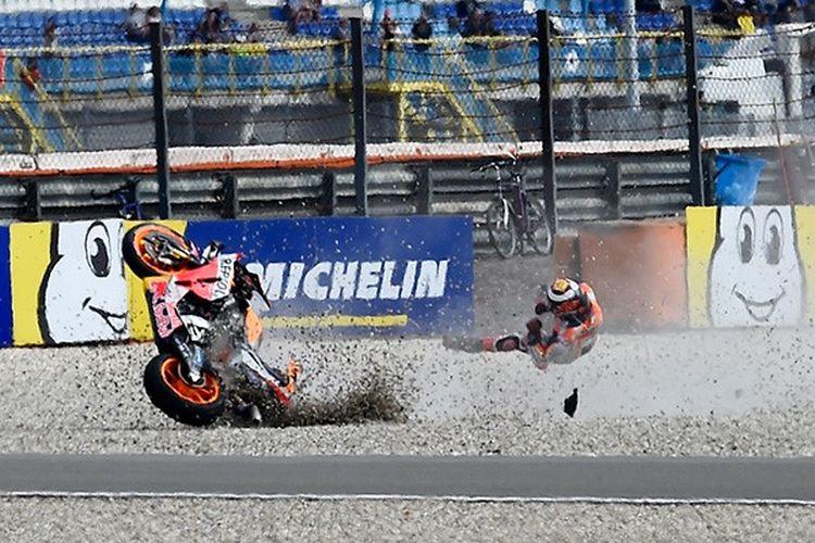 Jorge Lorenzo alami kecelakaan hebat saat GP Assen.