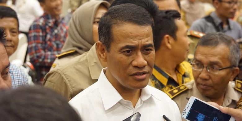 Menteri Pertanian Andi Amran Sulaiman ingin jadikan Sumatera Selatan sebagai lumbung padi nasional.