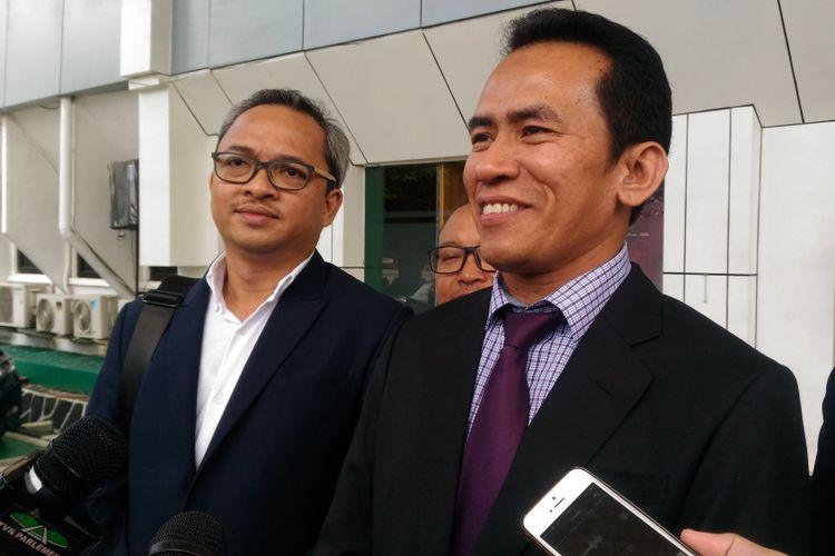 Pengacara Fahri Hamzah, Mujahid A. Latief di Pengadilan Negeri Jakarta Selatan, Kamis (24/1/2019).