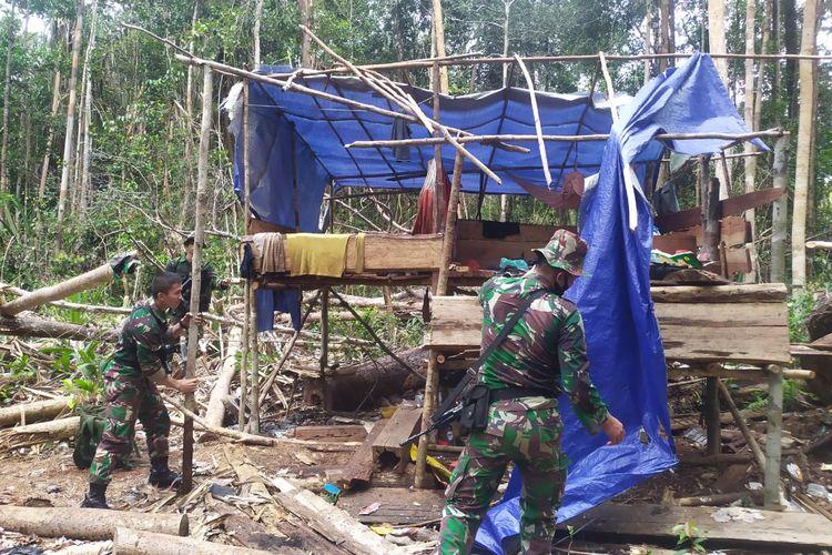 Operasi gabungan mengungkap pembalakan liar di kawasan hutan perbatasan Provinsi Jambi dan Sumatera Selatan