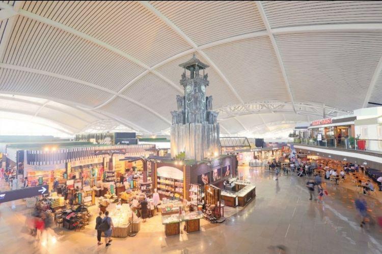 Ilustrasi terminal internasional di Bandara Internasional I Gusti Ngurah Rai, Bali.