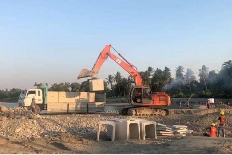 Pembangunan Jembatan Sementara Benanain di NTT Ditargetkan Selesai Juni 2021
