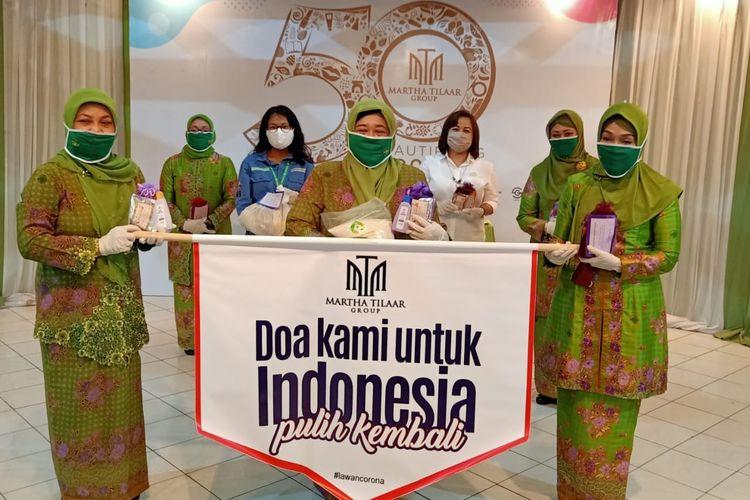 Martha Tilaar Group menggandeng Muslimat NU, Indonesia Global Compact Network (IGCN), dan Benihbaik.com. dalam menyalurkan donasi untuk penanganan Covid-19.