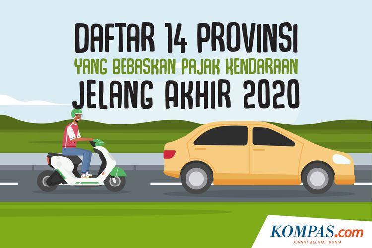 Daftar 14 Provinsi yang Bebaskan Pajak Kendaraan Jelang Akhir 2020