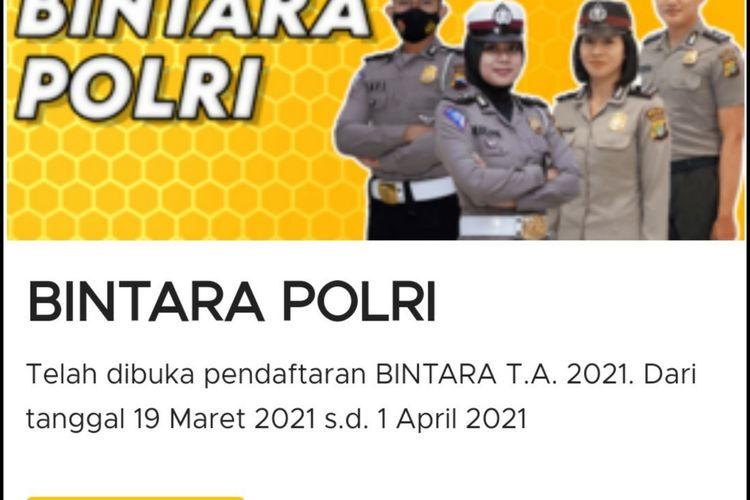 Penerimaan Bintara Polri 2021