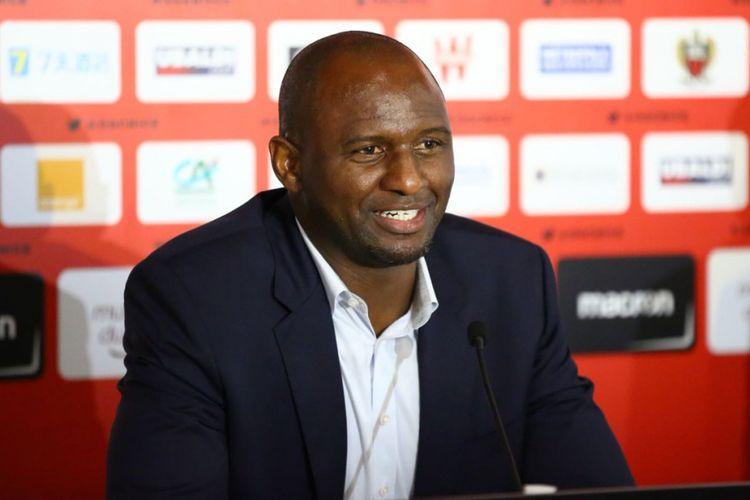 Patrick Vieira saat diresmikan menjadi pelatih klub Perancis, OGC Nice.