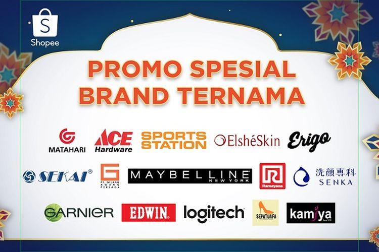 Promo spesial brand ternama dalam Promo Puncak THR Ekstra Day Shopee.