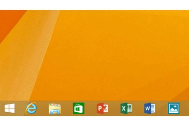 Tampilan antarmuka Windows 8.1.