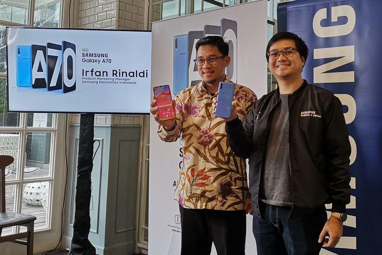 Pengenalan Samsung Galaxy A70 di Indonesia.