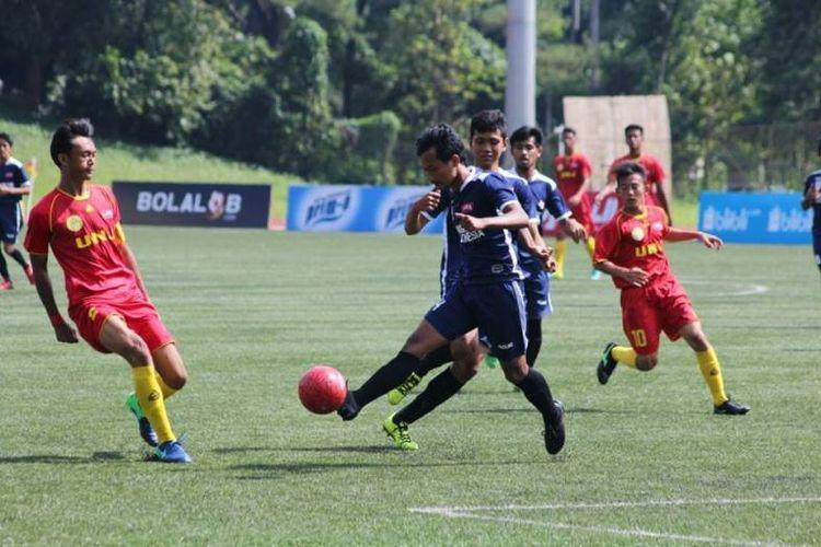 Universitas Negeri Jakarta (UNJ) mengunci gelar juara LIMA Football: Air Mineral Prim-A Greater Jakarta Conference (GJC) and Nusantara Conference (NC) 2017 di laga terakhirnya menang 11-0 melawan tuan rumah, Universitas Indonesia (UI).