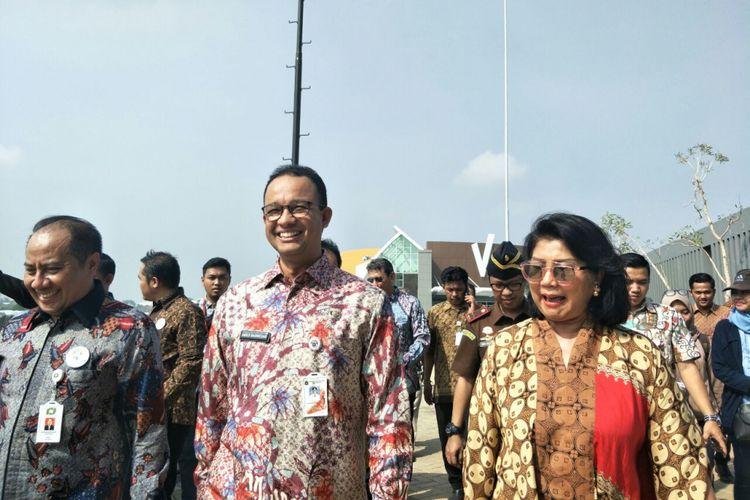 Gubernur DKI Jakarta Anies Baswedan meresmikan Jakarta International Equestrian Park di Pulomas, Kamis (2/8/2018).