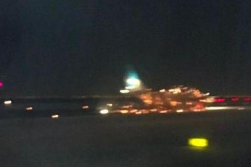 Saat Hendak Lepas Landas, Mesin Pesawat Argentina Dilalap Api