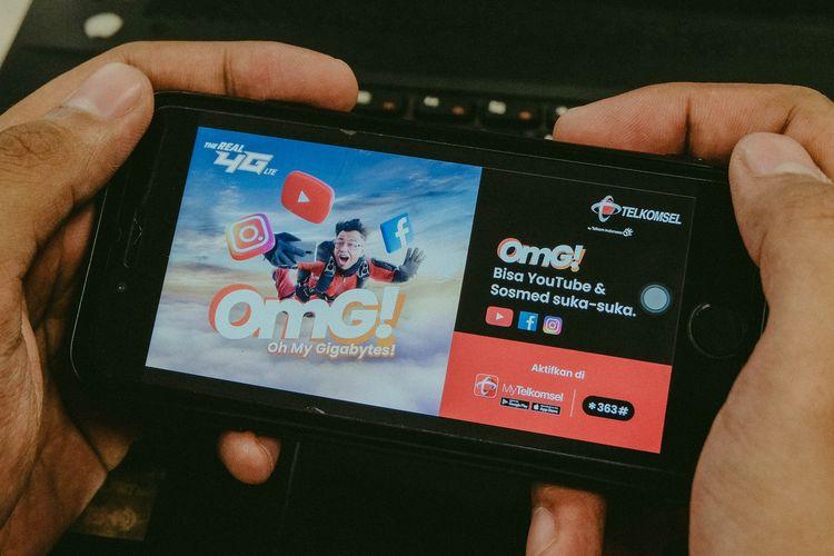 Ilustrasi paket internet Telkomsel OMG