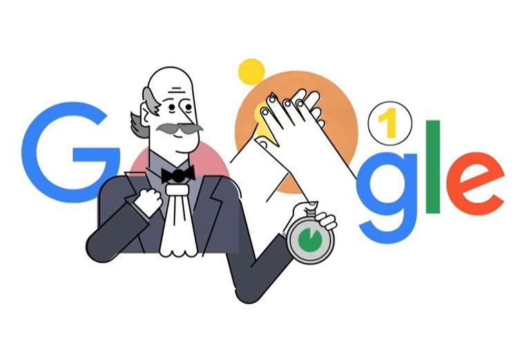 Google Doodle hari ini, Jumat (20/3/2020) menampilkan sosok Ignas Semmelweiz sebagai pelopor cuci tangan.