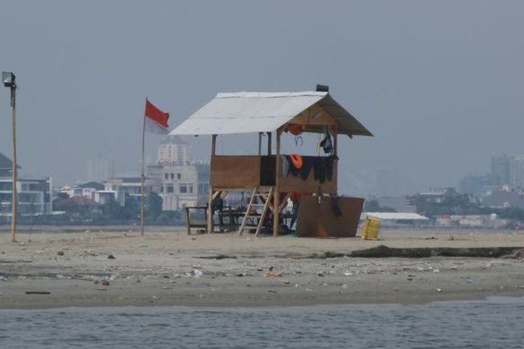 Kondisi reklamasi Pulau G di pesisir utara Jakarta, Rabu (13/7/2016).