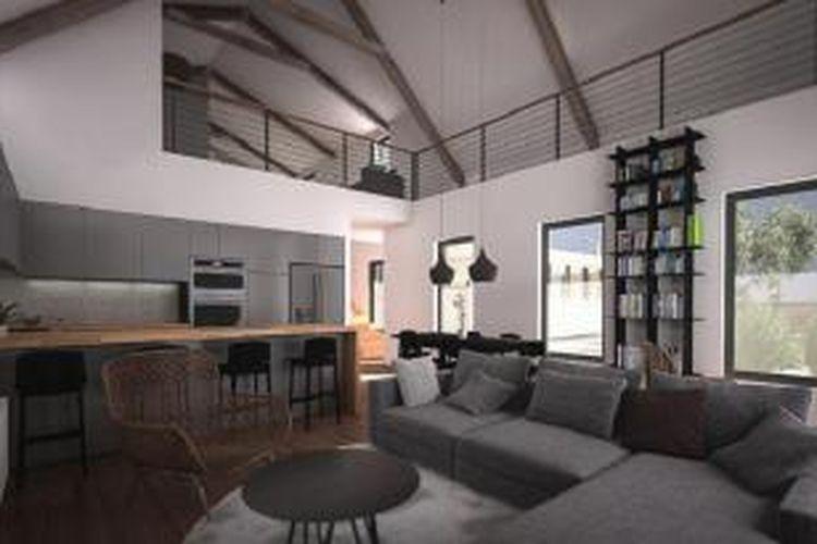 Seluas 1.800 kaki persegi atau 167 meter persegi, Aksioma House menghabiskan biaya sekitar 220.000 dollar AS atau Rp 3,2 miliar (kurs Rp 14.700 per dollar) tidak termasuk tanah