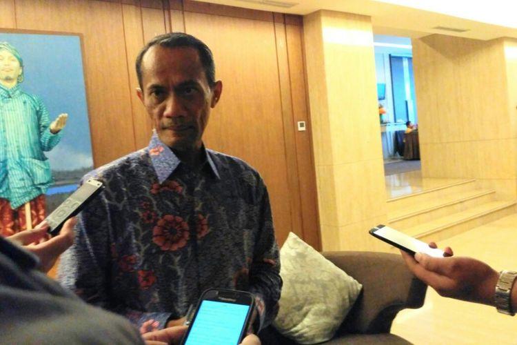 Kepala Badan Ketahanan Pangan (BKP) Kementerian Pertanian (Kementan), Agung Hendriadi, ketika ditemui usai pembukaan workshop di Hotel Grand Aston, Jalan Urip Sumoharjo, Kota Yogyakarta, Jumat (24/11/2017).