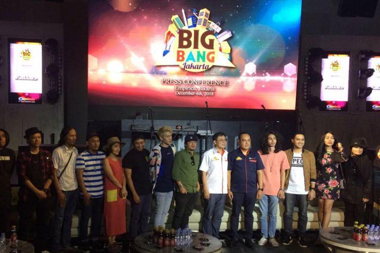 Perwakilan dari para pengisi acara Big Bang Jakarta 2018 dalam jumpa pers di Empirica SCBD, Jakarta Selatan, Selasa (4/12/2018).