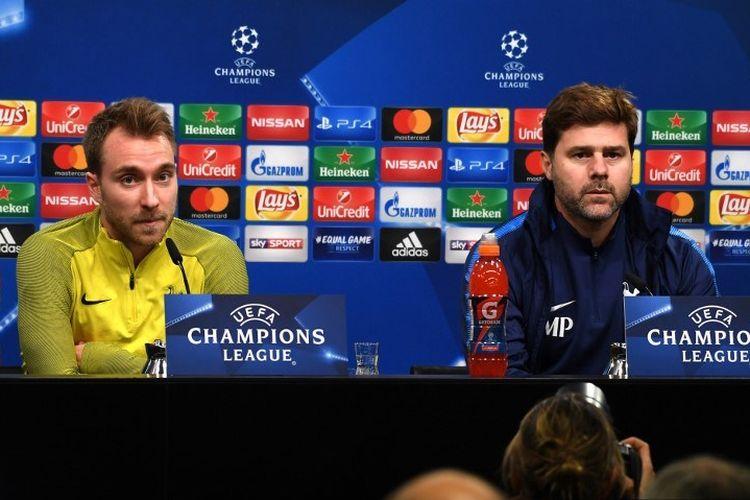 Mauricio Pochettino dan Christian Eriksen saat masih di Tottenham Hotspur