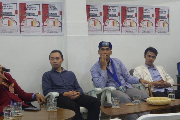Aktivis pemuda dari berbagai ormas dalam diskusi bertajuk Pemuda Indonesia Dalam Trajektori Kebangsaan dan Kemajuan di Cikini, Jakarta, Rabu (29/3/2017).