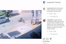 Viral, Video Detik-detik Kecelakaan Dua Sepeda Motor Adu Banteng di Wajo